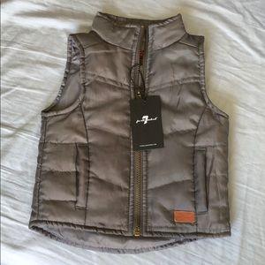 Seven jeans vest, size 12 months